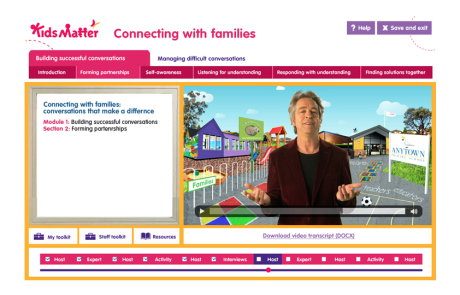 KidsMatter – Connecting with Families eLearning Course