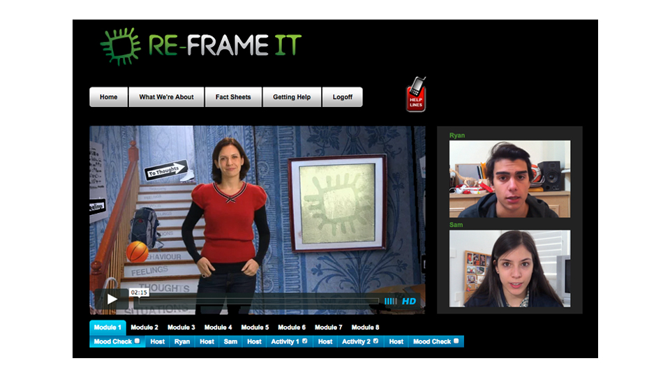 Orygen Youth Health – Re-Frame IT online cognitive behaviour therapy